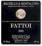 Fattoi Brunello Di Montalcino 2001 Bottle