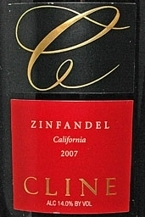 Cline 2007 Zinfandel Bottle