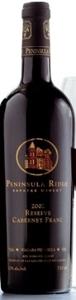 Peninsula Ridge Reserve Cabernet Franc 2002, VQA Niagara Peninsula Bottle