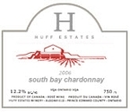 Huff Estates South Bay Chardonnay 2006, VQA Ontario Bottle
