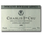Bernard Defaix Chablis Côte De Lechet 2006, Ac, 1er Cru , France Bottle