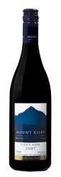 Mount Riley Pinot Noir 2007, Marlborough, South Island Bottle
