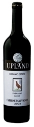 Upland Organic Estate Pheasant Haven Cabernet Sauvignon 2003, Wo Wellington Bottle