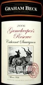 Graham Beck Gameskeeper Reserve Cabernet Sauvignon 2006, Wo Robertson Bottle