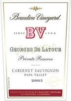 Beaulieu Vineyards Georges De Latour Private Reserve Cabernet Sauvignon 2003, Napa Valley Bottle