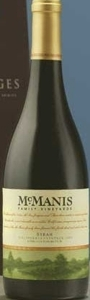 Mcmanis Family Vineyards Syrah 2006, California Bottle