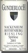 Gunderloch Nackenheim Rothenberg Riesling Spätlese 2006, Qmp, Estate Btld. Bottle