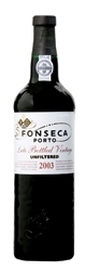 "Fonseca Late Bottled Vintage Port 2003, ""Btld. 2008, Unfiltered"" Bottle"