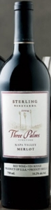 Sterling Three Palms Vineyard Merlot 2004, Napa Valley Bottle