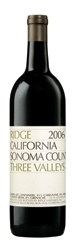 Ridge Three Valleys 2006, Sonoma County Bottle