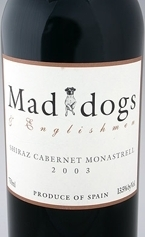 Mad Dogs & Englishmen Monastrell Shiraz Cabernet 2005, Jumilla, Spain Bottle