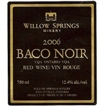 Willow Springs Baco Noir 2006, Ontario Bottle