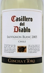 Concha Y Toro Casillero Del Diablo Sauvignon Blanc 2007, Central Valley Bottle