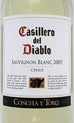 Concha Y Toro Casillero Del Diablo Sauvignon Blanc 2007, Central Valley Bottle