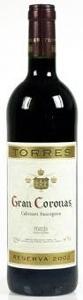 Torres Gran Coronas Cabernet Sauvignon 2003, Penedès Bottle