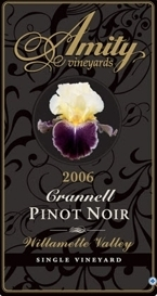 Amity Pinot Noir 2006, Willamette Valley, Oregon Bottle