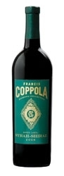 Francis Coppola Diamond Collection Green Label Syrah Shiraz 2006, California Bottle
