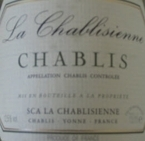 La Chablisienne 1er Cru 2005, Chablis Bottle