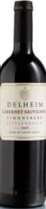 Delheim Cabernet Sauvignon 2005, Wo Simonsberg Stellenbosch Bottle