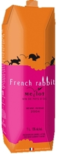 French Rabbit Merlot Carton 2008, 1000ml Bottle
