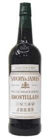 Savory & James Amontillado Sherry Bottle