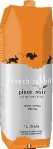 French Rabbit Pinot Noir Carton 4pk, 1000 Ml Bottle