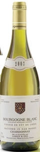Loron & Fils Bourgogne Blanc Chardonnay 2007, Ac, Matured In Oak Barrel Bottle