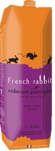 French Rabbit Cabernet Sauvignon Carton 2010, Pays D' Oc (1000ml) Bottle