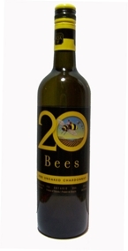 20 Bees Chardonnay Unoaked 2008, Ontario VQA Bottle