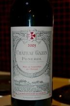 Chateau Gazin (Pomerol) 2003 Bottle
