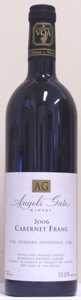 Angels Gate Cabernet Franc 2006, Niagara Peninsula Bottle