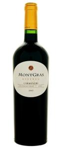 Montgras Reserva Carmenère 2008, Colchagua Valley Bottle