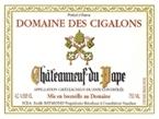 Domaine Des Cigalons, Aoc Chateauneuf Du Pape 2007 2007 Bottle