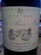 Château Les Bois Noirs, Rouge, Organic, Ac Bordeaux, 2008, Michel And Angelita Bauce Bottle