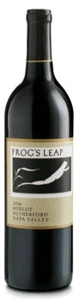 Frog's Leap Merlot 2006, Rutherford, Napa Valley Bottle