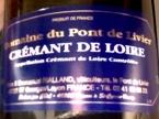 Cremant De Loire, Aoc Cremant De Loire, Nv, Flore And Emmanuel Rialland, Domaine Du Pont De Livier Bottle