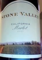 Stone Valley Merlot 2007 Bottle