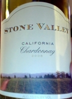 Stone Valley Chardonnay 2008 Bottle