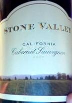 Stone Valley Cabernet Sauvignon 2007 Bottle