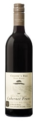 Coyote's Run Black Paw Vineyard Cabernet Franc 2007, VQA Four Mile Creek, Niagara Peninsula Bottle