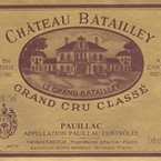 Château Batailley 2002 Bottle