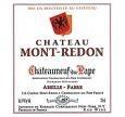 Chateau Mont Redon Chateauneuf Du Pape 2000 Bottle