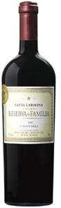 Santa Carolina Reserva De Familia Carmenère 2007, Rapel Valley Bottle