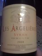 Les Argelieres, Syrah, 2008 Vin De Pays D'oc Bottle