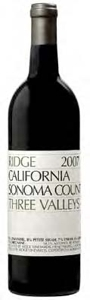 Ridge Three Valleys 2007, Sonoma County Bottle