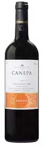 Canepa Reserva Privada Carmenère 2008, Rapel Valley Bottle