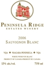 Peninsula Ridge Sauvignon Blanc 2008, Niagara Peninsula Bottle
