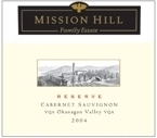 Mission Hill Cabernet Sauvignon Reserve 2007, VQA Okanagan Valley, British Columbia Bottle