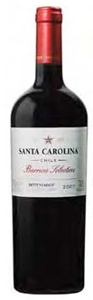 Santa Carolina Barrica Selection Petit Verdot 2007, Rapel Valley Bottle