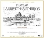 Chateau Larrivet Haut Brion 2001 Bottle